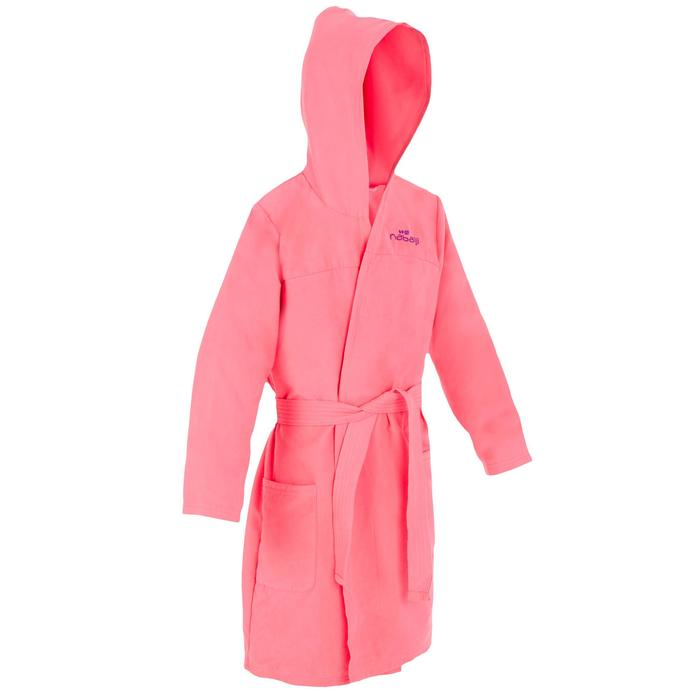 Pack peignoir junior rose et serviette microfibre L 80 * 130 cm rose nabaiji