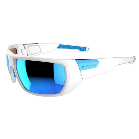 Trekkingbril volwassenen Hiking 700 wit & blauw polariserend cat. 3 - 1076404
