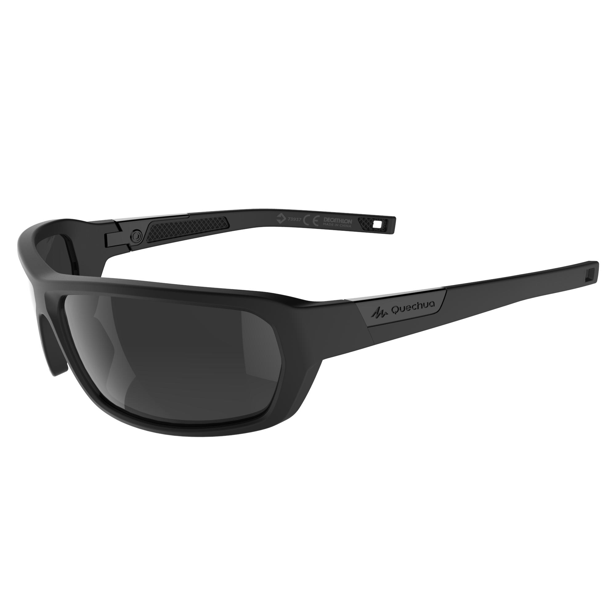 Hiking 200 Adult Hiking Sunglasses Category 3 - Black