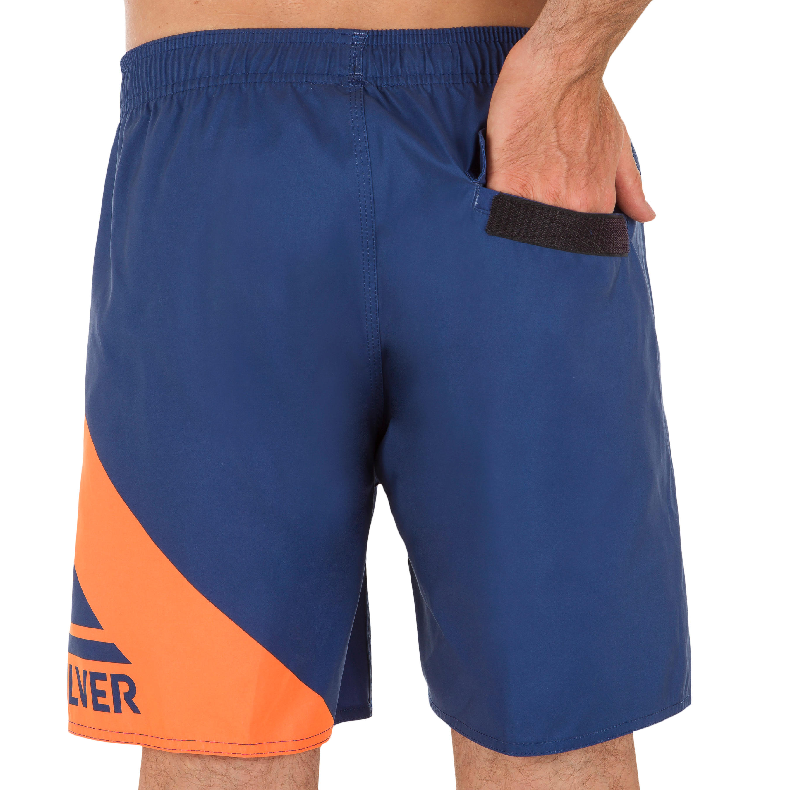 Orange Wave Blue Court Quiksilver Boardshort xCBroWde