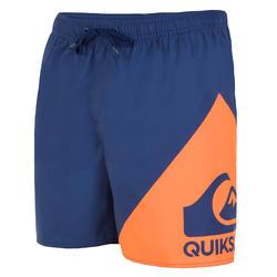 Korte boardshort Quicksilver Wave blauw oranje