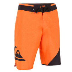 Lange boardshort Quiksilver Wave oranje
