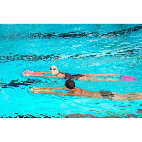Grande planche a battements natation vert bleu nabaiji - Nager en piscine avec des palmes ...