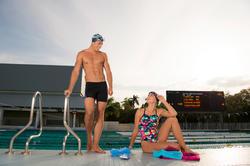 Peddel Fingerpaddle Quick'in voor zwemmen wit/blauw - 1076855