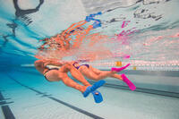Silifins Short Swim Fins - Cina Blue