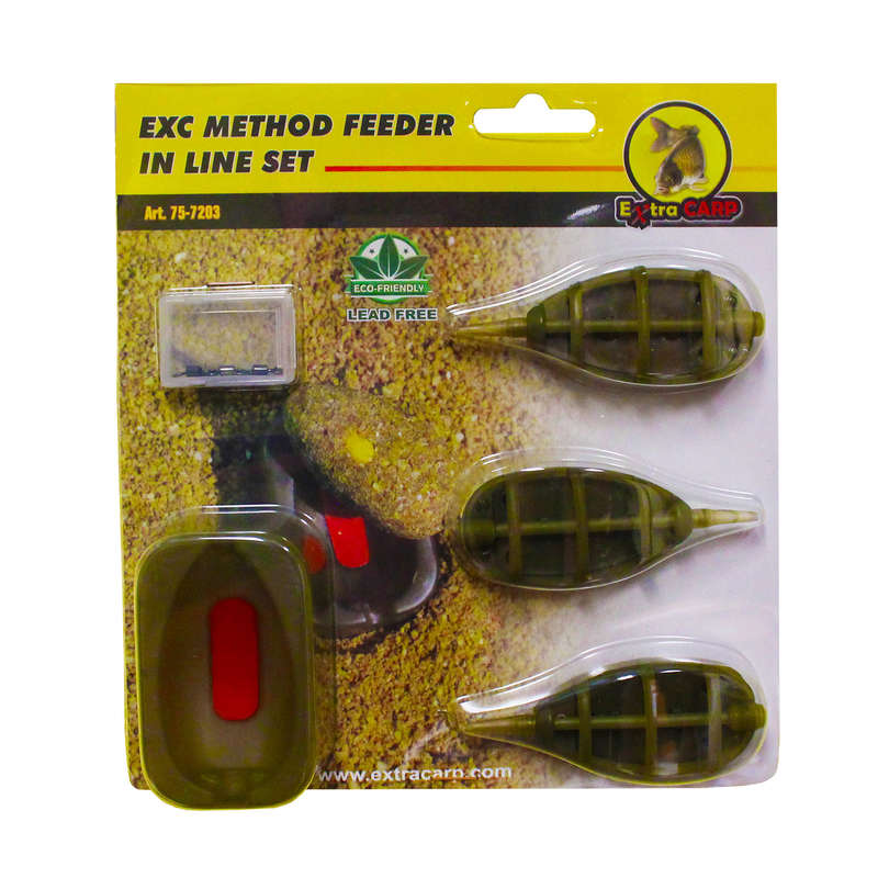 FEEDERS, METHOD, ACCESSORIES Fishing - EXC METHOD FEEDER IN LINE SET AUTAIN - Coarse and Match Fishing