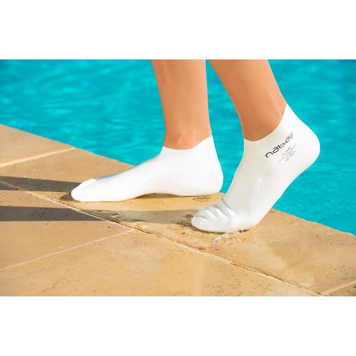 Latex sokken zwemsport volwassenen wit