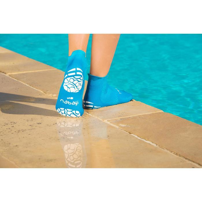 63c9ae7a135e Calcetines Piscina Natación Nabaiji Aguasocks Niños Azul Antideslizantes