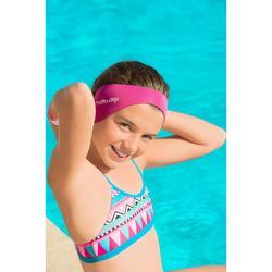 Schwimm-Stirnband Größe S wendbar türkisblau