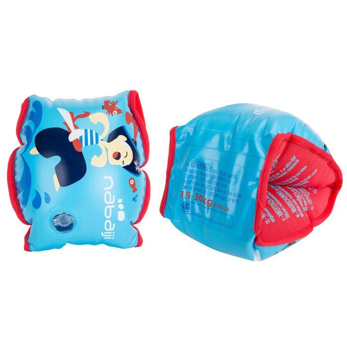 Schwimmflügel Stoff-Innenseite Kinder 15–30kg Print Pirat blau