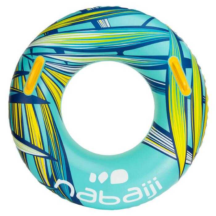 """Bouée gonflable 92 cm bleue """"TROPIC"""" grande taille avec poignées confort - 1076986"""