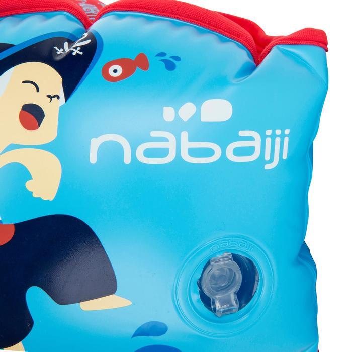 Manguitos Natación Nabaiji Azul Estampado Pirata 15 a 30kg