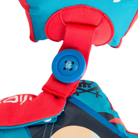 "Blue child's TISWIM adaptable armband-waistbands Printed ""STARS"""
