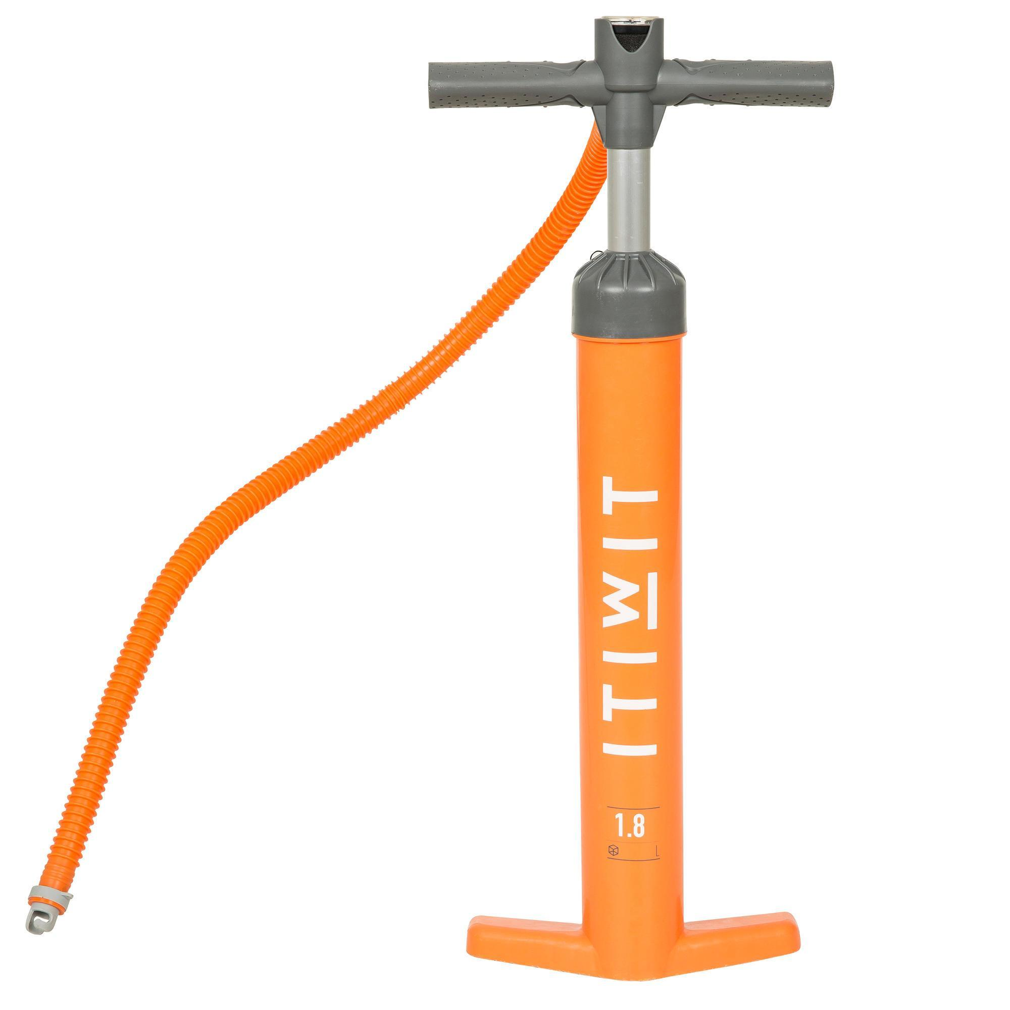 Itiwit Doppelhub Hochdruckpumpe - Stand Up Paddle - 20 PSI - orange