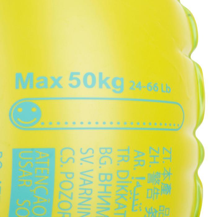 """Bouée gonflable 92 cm bleue """"TROPIC"""" grande taille avec poignées confort"""