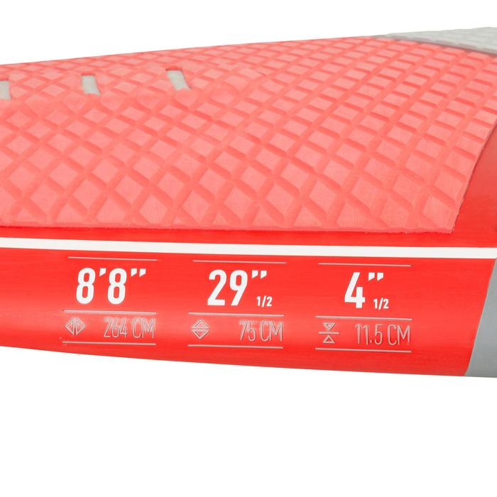 STAND UP PADDLE RIGIDE SURF 500 / 8'8 ROUGE 122 L