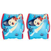 Manguitos de natación azules con interior de tejido