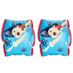 "15 -30 kg Children's Inner Fabric Swimming Armbands - Blue ""Pirate"" print"