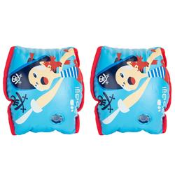 """Soft"" Inner Fabric Swimming Armbands - Pirate Print Blue"