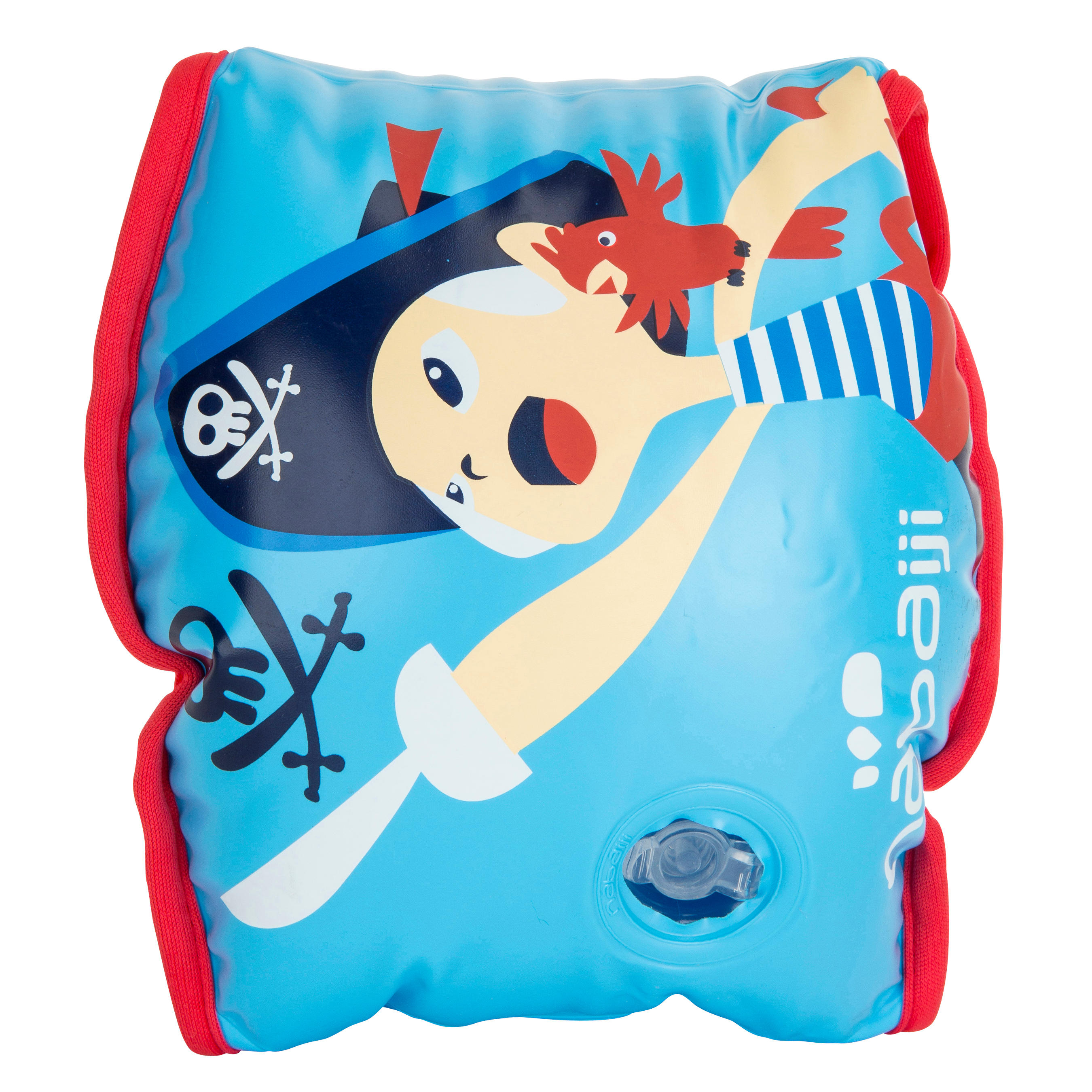 _QUOTE_Soft_QUOTE_ Inner Fabric Swimming Armbands - Pirate Print Blue
