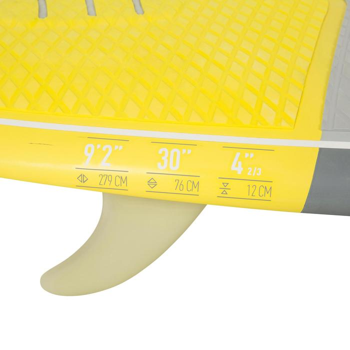 STAND UP PADDLE RIGIDE SURF 500 / 9'2 JAUNE 133 L - 1077137
