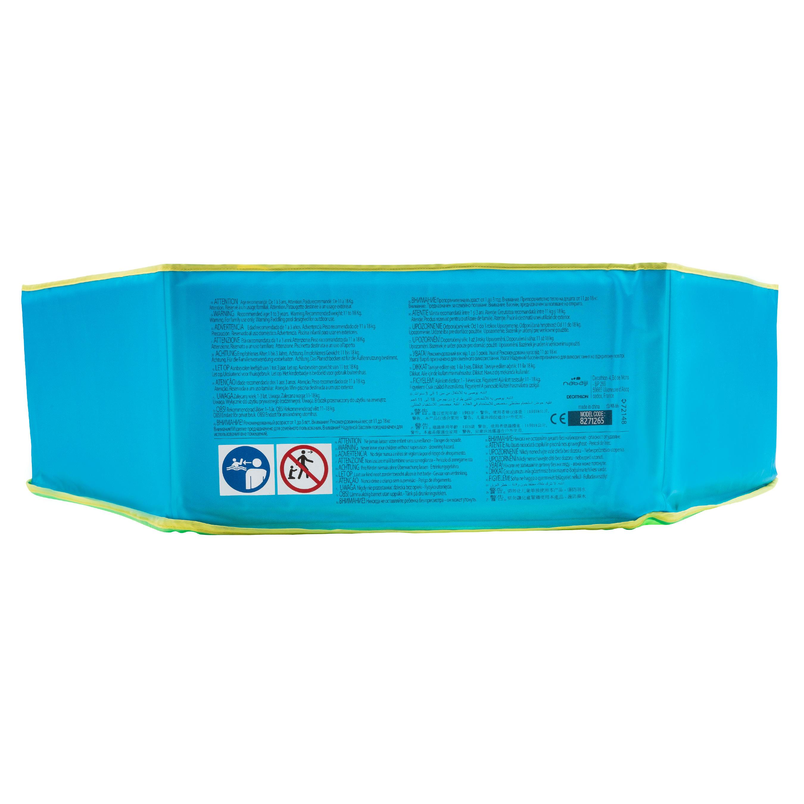 Petite piscine Tidipool bleue 88,5 cm de diamètre avec sac de rangement étanche