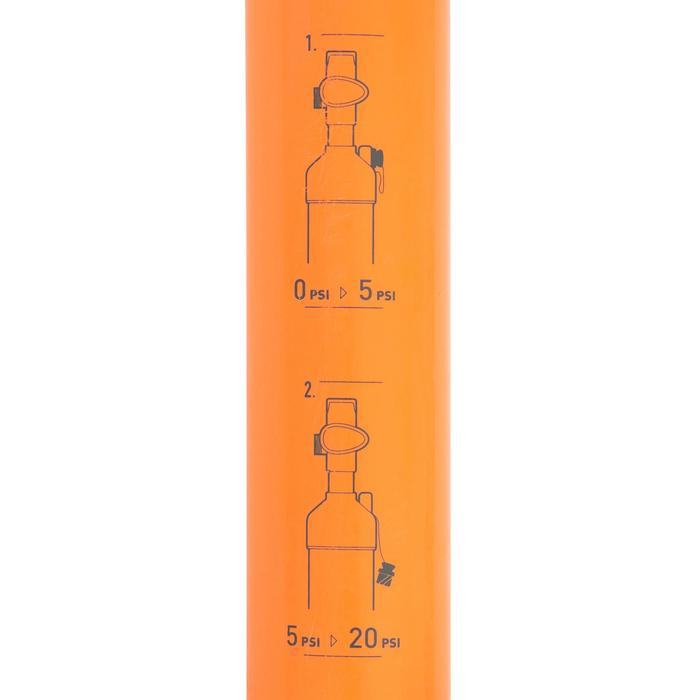 POMPE A MAIN STAND UP PADDLE HAUTE PRESSION 20 PSI DOUBLE ACTION ORANGE - 1077162