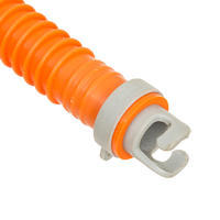 Double-Action 20 psi High-Pressure Stand-Up Paddle Hand Pump - Orange