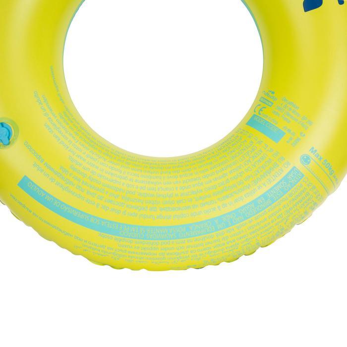 """Bouée gonflable 92 cm bleue """"TROPIC"""" grande taille avec poignées confort - 1077214"""