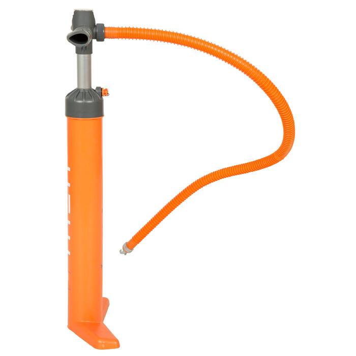 雙向式20 psi高壓立式划槳打氣筒-橘色