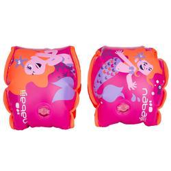 Zwembandjes roze print 'Zeermeermin' binnenkant stof 15 -30 kg
