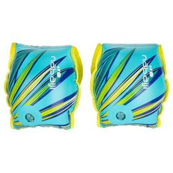 Adult swimming armbands with SOFT fabric interior blue