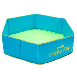 Piscina pequena criança azul com saco de transporte estanque 88,5cm de diâmetro