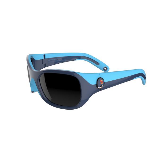 Zonnebril trekking voor kinderen 3-6 jaar Kid 500 blauw categorie 4