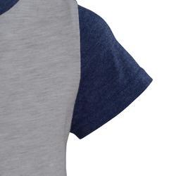 Camiseta manga corta estampado gimnasia infantil gris