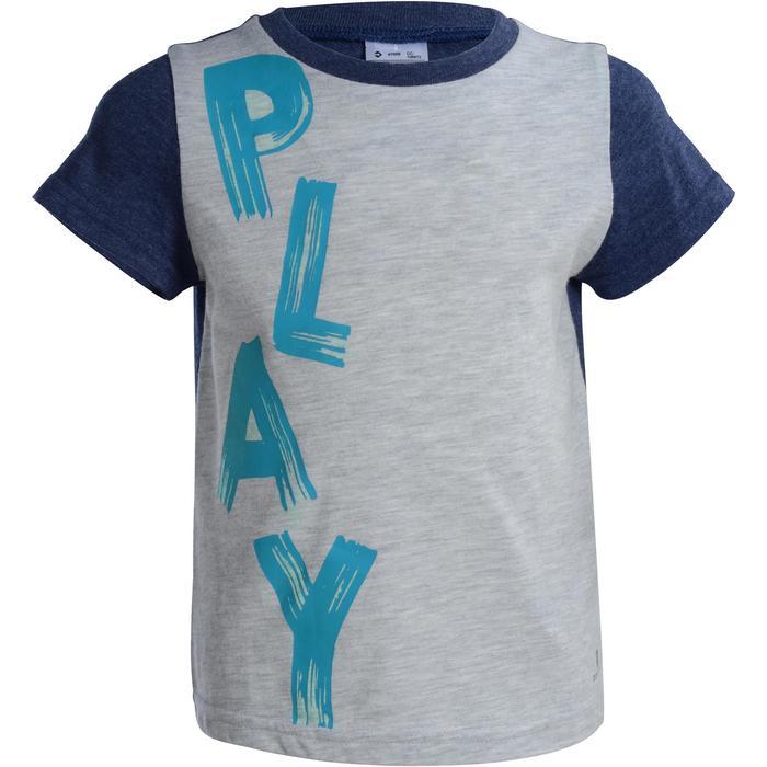 T-Shirt manches courtes imprimé Gym baby gris - 1077437