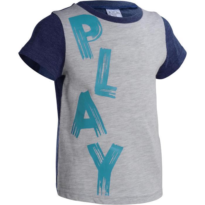 T-Shirt manches courtes imprimé Gym baby gris - 1077492