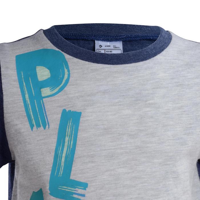 T-Shirt manches courtes imprimé Gym baby gris - 1077511