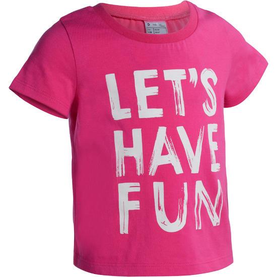 Peuter T-shirt met korte mouwen en opdruk voor gym - 1077668