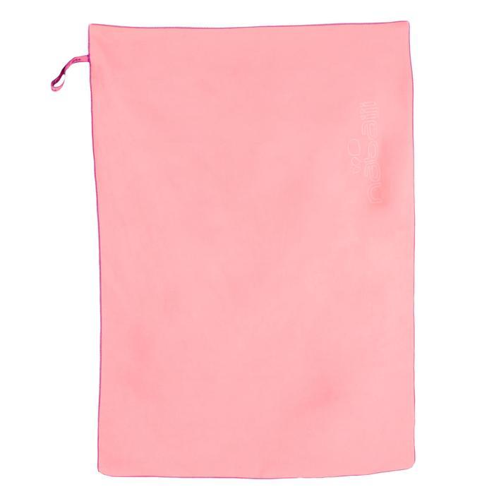 Albornoz Y Toalla Piscina Natación Nabaiji Rosa Capucha Cinturón Microfibra