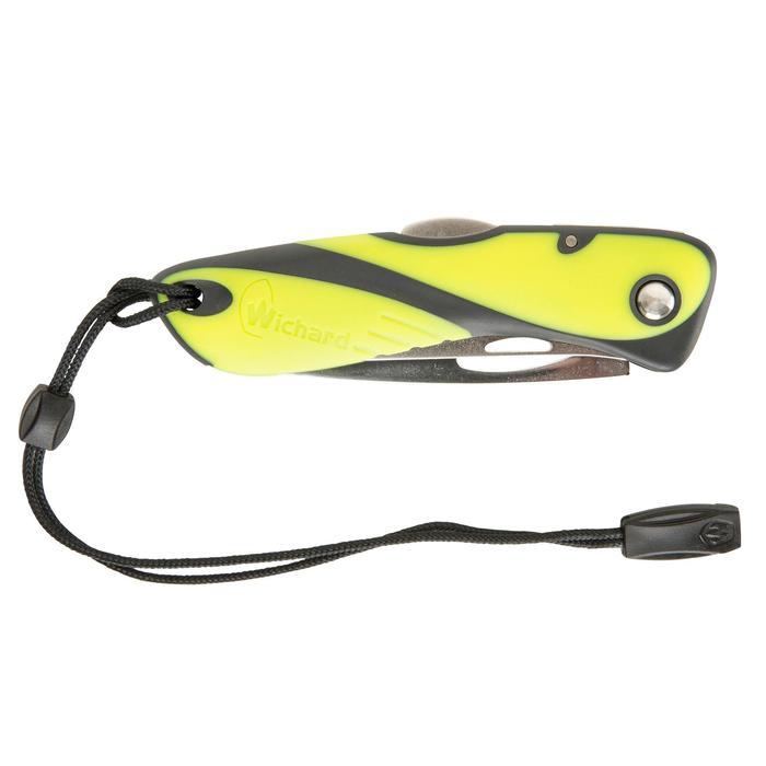 Couteau marin démanilleur épissoir bateau noir/jaune