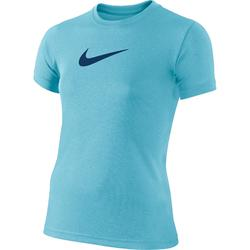 Camiseta Manga Corta Deportiva Gimnasia Nike Niña Azul