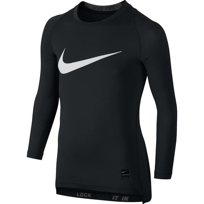 aca7dac32b Camiseta de manga larga fitness niño pro negro Nike