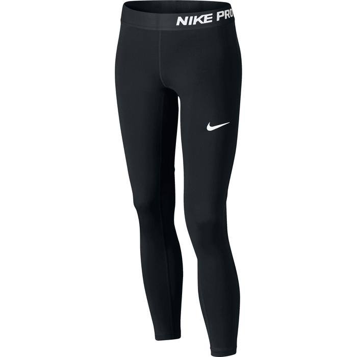 Mallas De Gimnasia Nike Transpirables Y Ajustadas Niña Negro