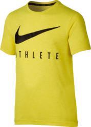 T-shirt fitness jongens Nike Athlete geel