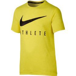 T-shirt de Ginástica Rapaz ATHLETE Amarelo