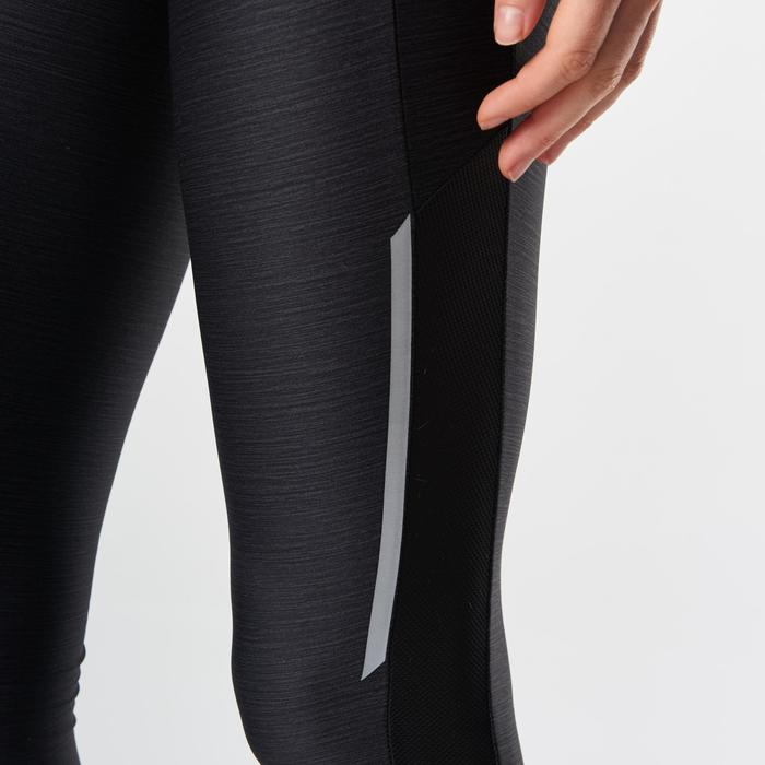 Laufhose lang Tights Run Dry+ Damen schwarzmeliert