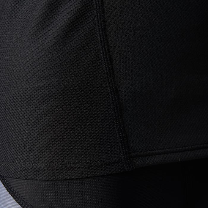 Licht loopshirt voor heren Kiprun zwart/blauw