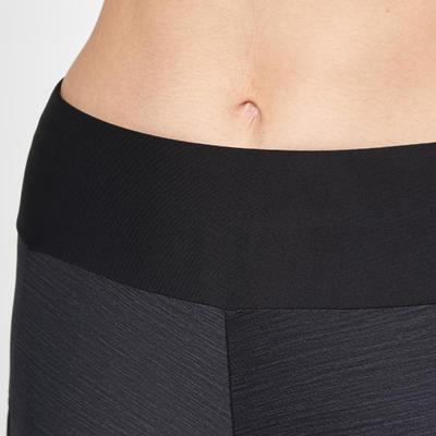 بنطلون Tights رياضي للسيدات للجري Run Dry + - أسود