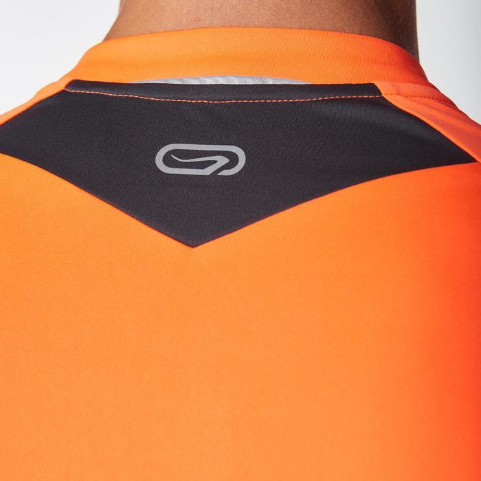 Tee shirt manches courtes trail running gris jaune homme - 1078454